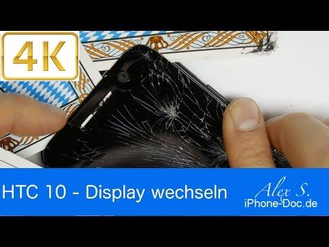 HTC 10 Display tauschen, wechseln, reparieren in 4K, deutsch