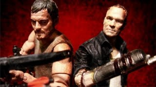 The Walking Dead DIXON BROTHERS 2 Pack Action Figure Review Daryl and Merle