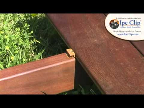Ipe Clip® Hidden Deck Fastener Installation Instructions flv