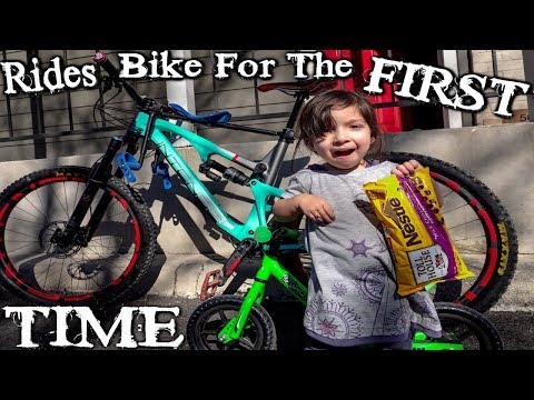 Teach Your Child To Ride A Balance Bike Quickly With Chocolate Chips | 3 year old balance bike video thumbnail