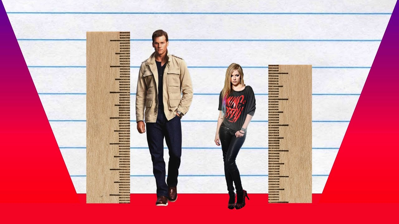 How Much Taller? - Tom Brady vs Avril Lavigne! - YouTube