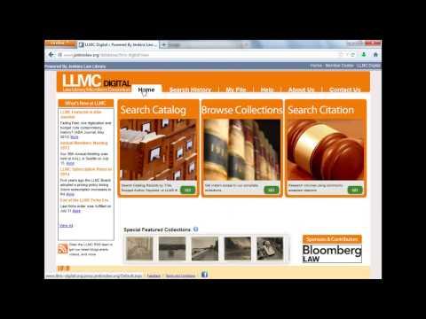Using LLMC Digital - Part 2: Search