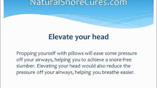 10 Tips To Stop Snoring