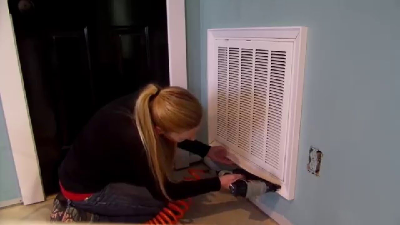 How to cut base molding around wall vent - How To Add Trim To Your Return Air Filter