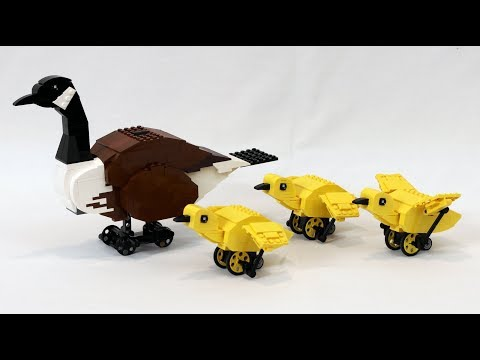 Motorized LEGO Canada Goose and Goslings
