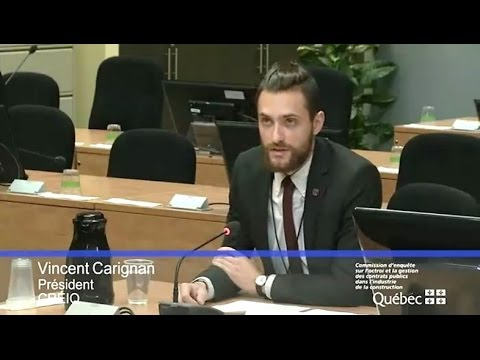 QCESO - Audience at the Charbonneau Commission (October 17th 2014)