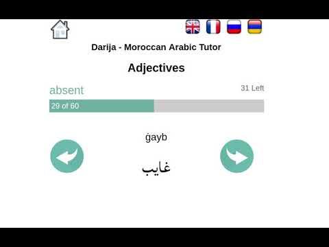 Darija - Moroccan Arabic Tutor: Adjectives