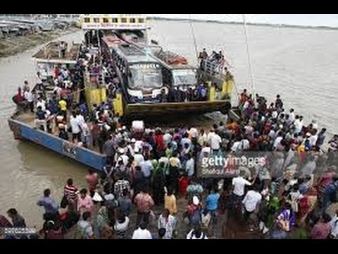 Ferry of Padma River in Bangladesh