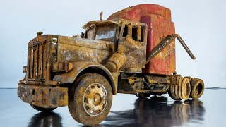 Peterbilt 379 Model Truck Restoration Rusty Abandoned