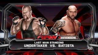 WWE  2K15 EpicBattle Undertaker Vs Batista (Last Man Standing)