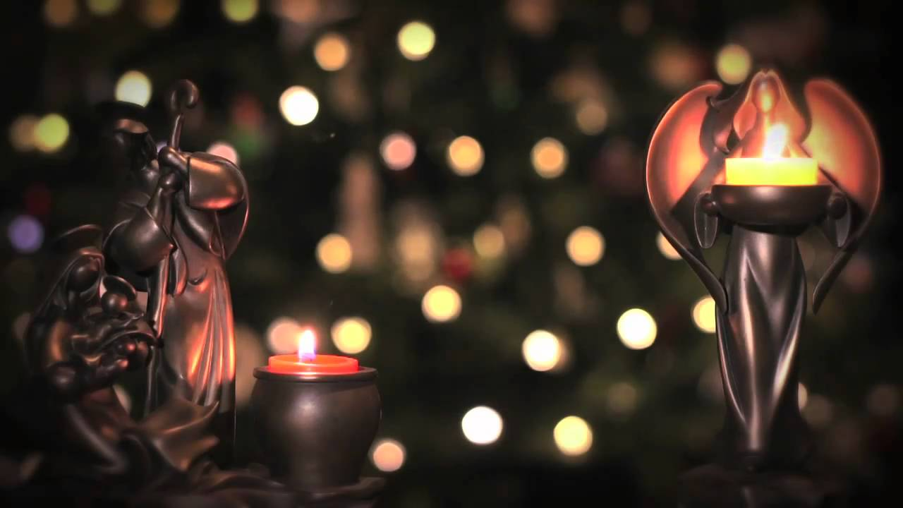 Christmas Scene Candles Looping Background Youtube