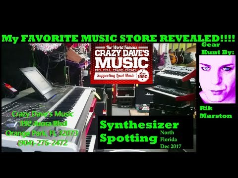 Synthesizer Spotting North Florida Dec 2017 Crazy Daves Music Rik Marston