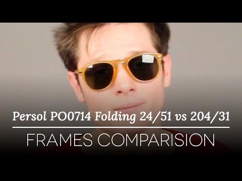b890e383ad Persol PO0714 Folding 24 51 vs 204 31 Sunglasses Review - YouTube