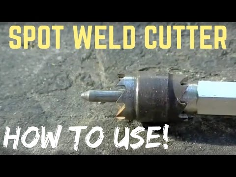 CUTTING AND DRILLING SPOT WELDS | How To Use a Spot Weld Cutter