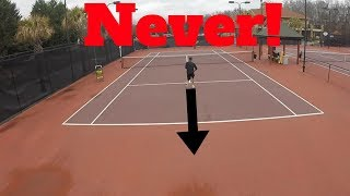 5 BIGGEST MISTAKES TENNIS PLAYERS DO ON THEIR SINGLES GAME