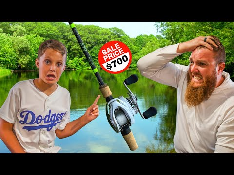 KID Picks My Fishing Combo W/ NO BUDGET (BIG Mistake!!)