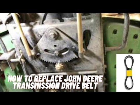 How To Install A Transmission Drive Belt John Deere D140