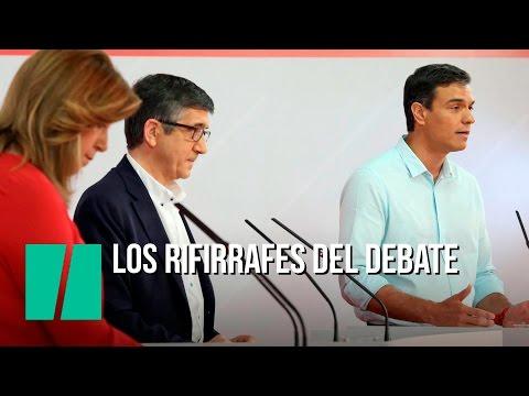 Los rifirrafes del debate del PSOE