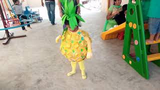 FANCY DRESS FOR 2 year old Kid |Pineapple 1st Prize|Handmade fancy dress|Paper Fancy dress