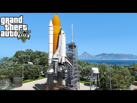 GTA 5 Grand Theft Space Mod | Working Space Shuttle Launch & Exploring Outer Space | Spoiler Alert