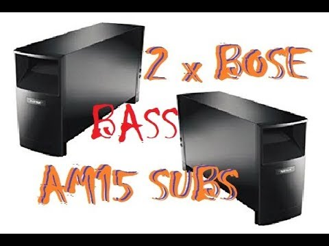 DUAL BOSE Acoustimass 15 Series II - Flexing Test - YouTube 202007d4c1a11