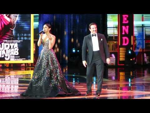 Diljit Dosanjh and Alia Bhatt Singing Ikk Kudi | Alia Bhatt Dancing with Saif Ali Khan IIFA 2017