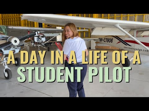 A day in a life of a STUDENT PILOT | Philippines - Yna Miguela