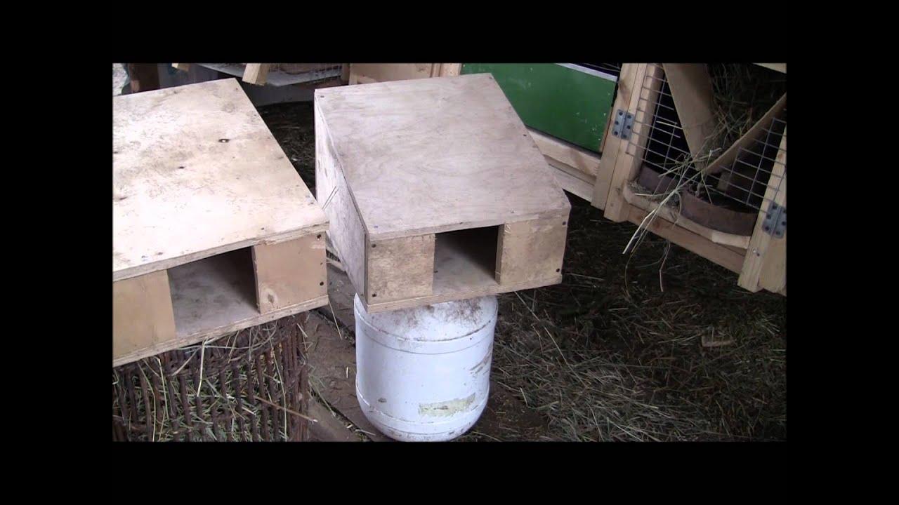 Размеры маточник для кроликов 29