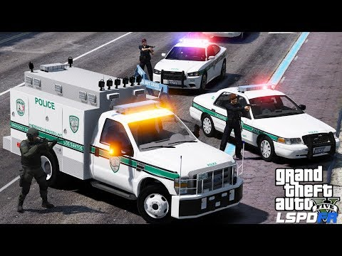 GTA 5 LSPDFR #515 | Emergency Service Unit Responding To A Bank Heist | SWAT Team Rescues Hostages