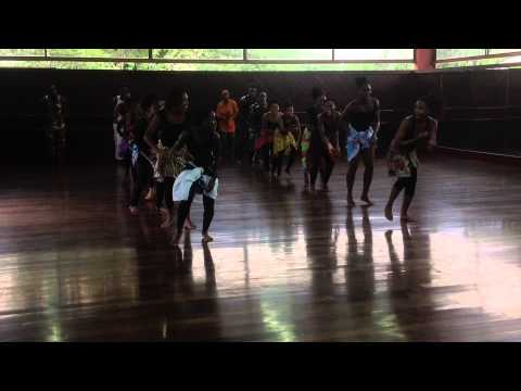 Afia teaches Dance @ Edna Manley School for Performing Arts, 2014