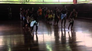 Afia teaches Dance @ Edna Manley School for Performing Arts, 2014