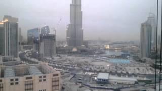الغروب في منطقة برج خليفة sunset in Burj Khalifa area