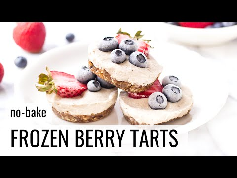 NO-BAKE FROZEN BERRY TARTS   Healthy Summer Dessert