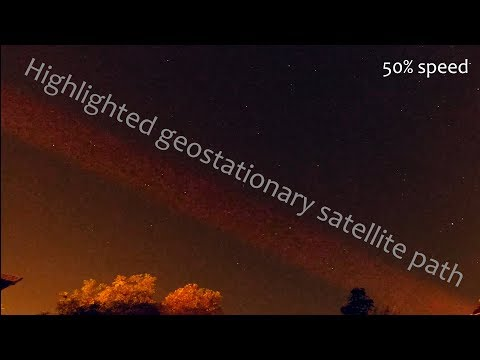Geostationary satellites highlighted path | UHD 4K60