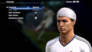 Cristiano Ronaldo New Hairstyle Special #3 PES 2013 █▬█D 720p
