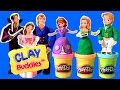Play doh sofia the first clay buddies royal family activity princess amber  prince james dough set