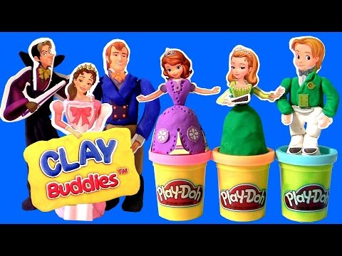 Thumbnail: Play Doh Sofia the First Clay Buddies Royal Family Activity Princess Amber & Prince James Dough set