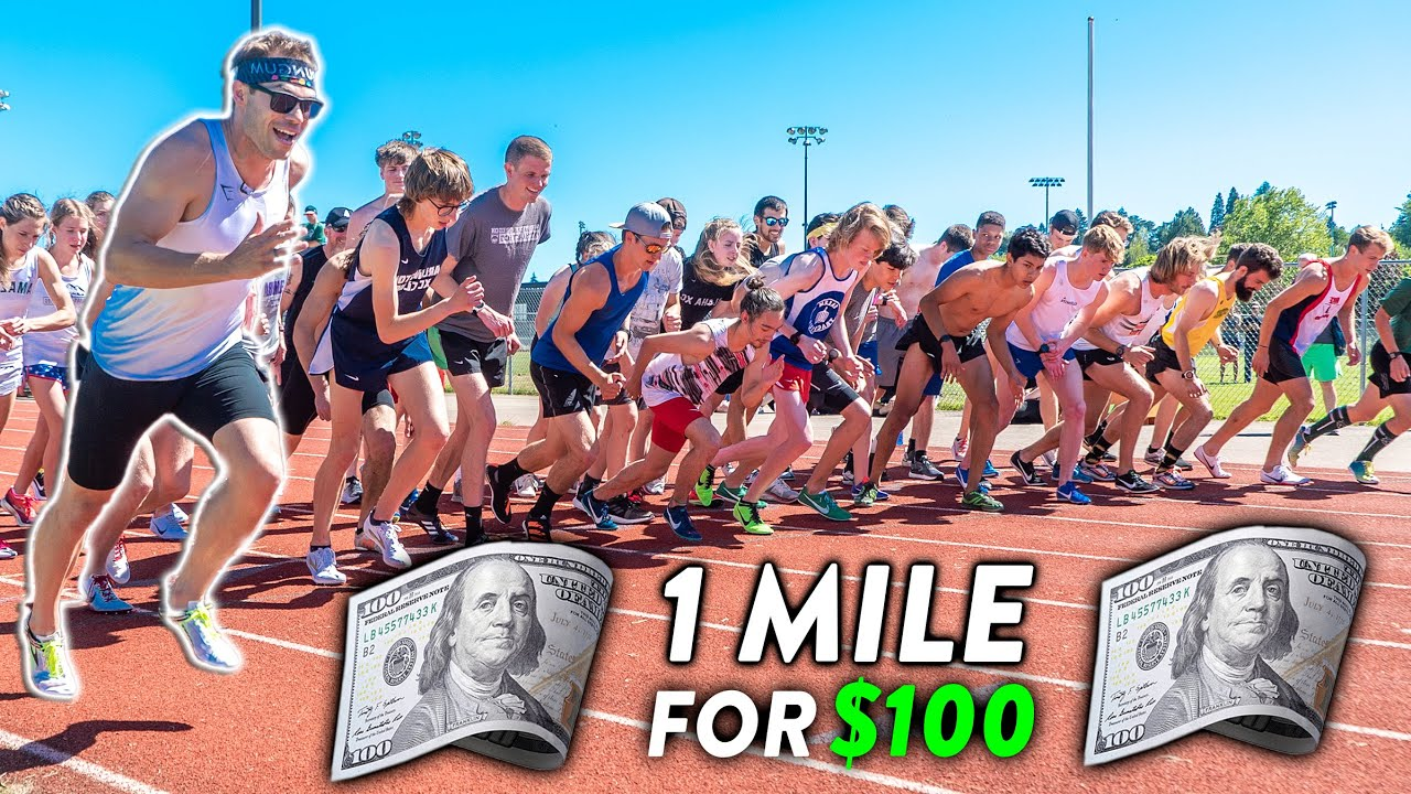 EPIC 1 Mile Race VS. Subscribers, Winner Gets $100 CASH!