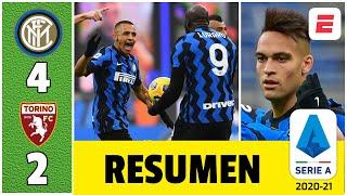 Inter 4-2 Torino. Doblete de Lukaku y goles de Alexis Sánchez y Lautaro para la remontada | Serie A