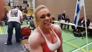 Minna Pajulahti Raw Bench Press 123kg World Record