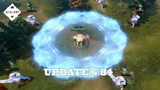 Dota 2 update 6.84 - Invoker with Max level Deafening Blast ( new effect )
