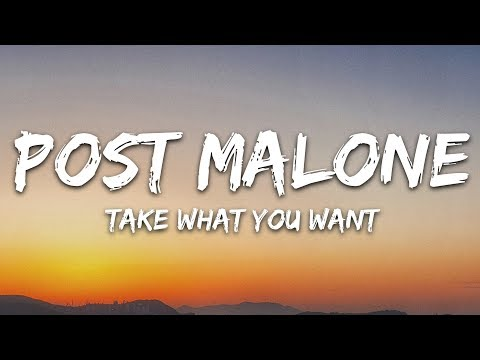 Post Malone - Take What You Want (Lyrics / Lyric Video / Letra ) feat. Travis Scott & Ozzy Osbourne