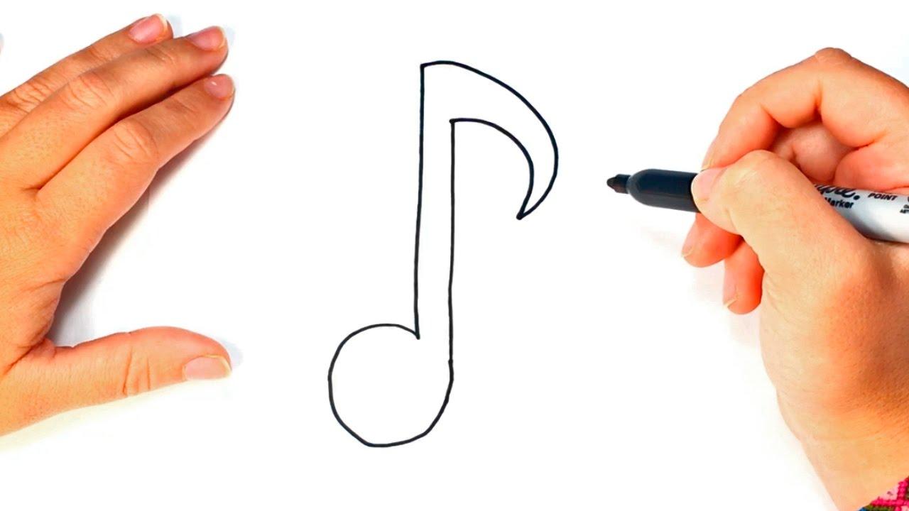 Cómo Dibujar Una Nota Musical Paso A Paso Dibujo Fácil De Nota