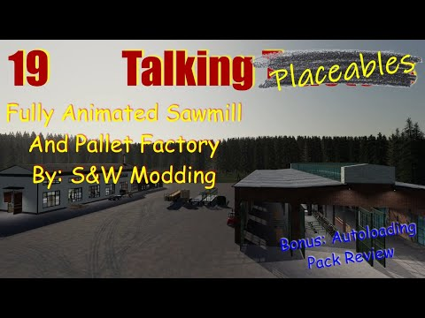 Farming Simulator 19   Fully Animated Sawmill And Pallet Factory   Talking Tractors #19