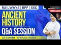Ancient History by Shefali Ma'am | Q&A Session | Important for SSC & RRB Exams