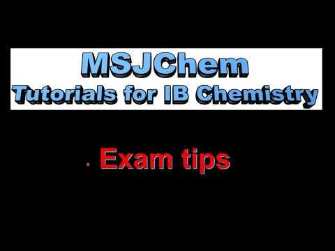 Exam Tips For The IB Chemistry Exam (SL/HL)