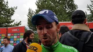 Alejandro Valverde - entrevista en la meta - 20a etapa - Vuelta a España 2018