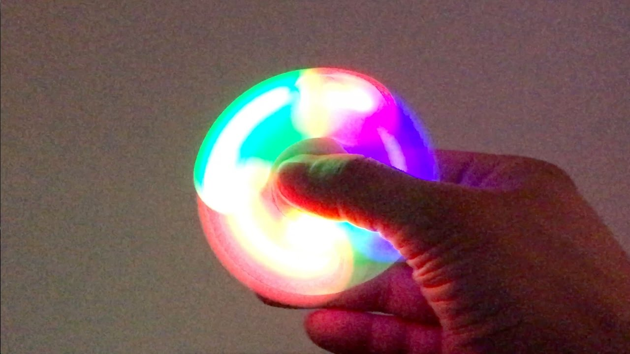 Lighting Led Fidget Hand Spinner Unboxing 4k