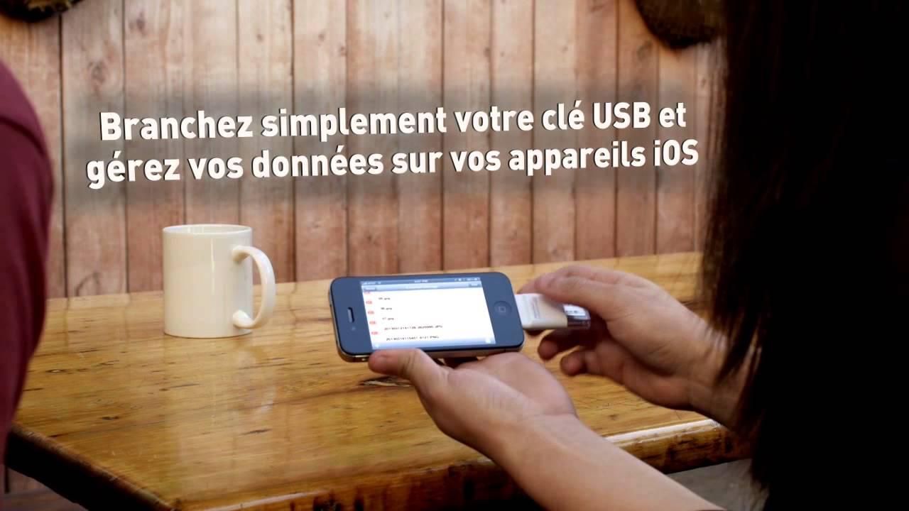 la premi re cl usb pour iphone ipad le i touch flashdrive de photo fast youtube