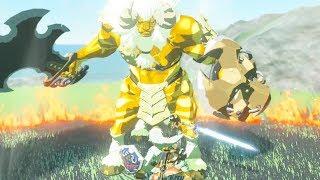 Fully Powered Master Sword DESTROYS GOLD LYNEL - Zelda Breath of the Wild
